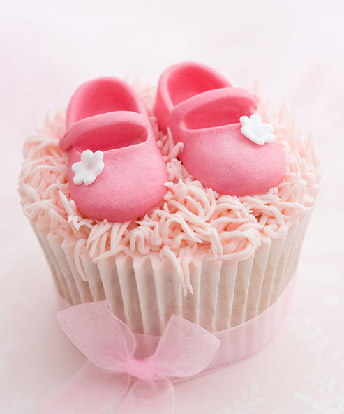 Baby Girl Cupcakes (Box of 12)